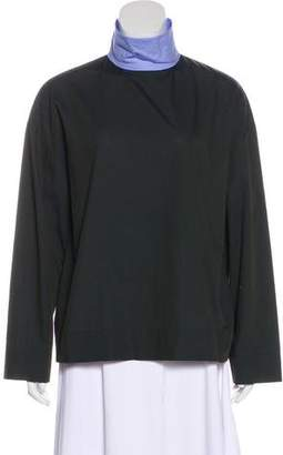 Cédric Charlier Two-Tone Long Sleeve Top