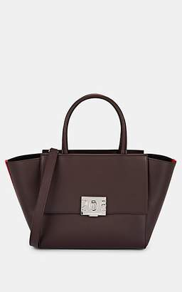 Calvin Klein Women's Bonnie Leather Shoulder Tote Bag - Bordeaux