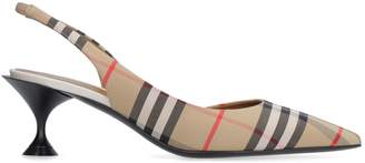 Burberry Vintage Check Motif Pointy-toe Slingback