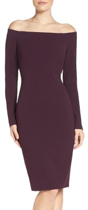 Women's Eliza J Off The Shoulder Scuba Sheath Dress $98 thestylecure.com