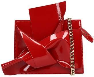 N°21 N.21 Belt Red Patent Leather Bag