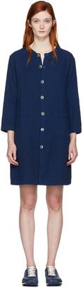 Blue Blue Japan Indigo Shirt Dress $365 thestylecure.com