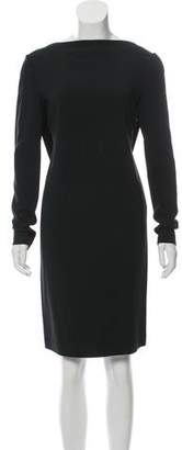 Calvin Klein Collection Long Sleeve Knee-Length Dress