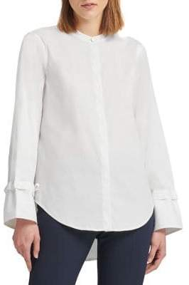 Donna Karan Split-Cuff Button-Down Shirt