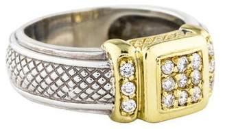 Judith Ripka Diamond Pavé Square Ring