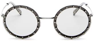Valentino Embellished Round Sunglasses, 53mm