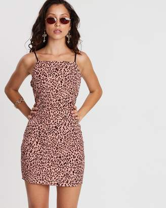 Missguided Animal Print Strappy Dress