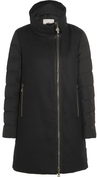 MonclerMoncler - Aglaia Paneled Twill And Quilted Shell Down Coat - Black