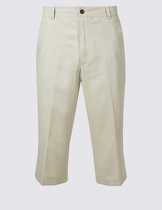 Marks and Spencer Linen Rich Adjustable Waist Shorts