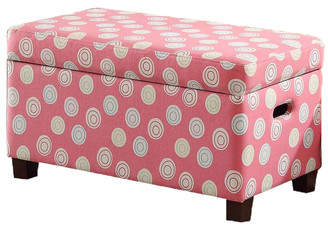 HomePop Deluxe Upholstered Kids Bench with Storage