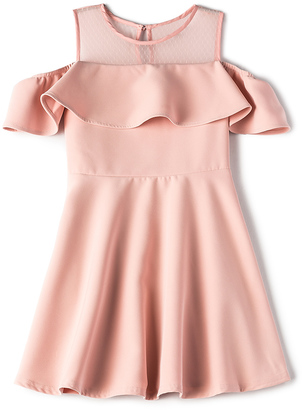 Bardot Junior Cold Shoulder Ruffle Dress $90 thestylecure.com