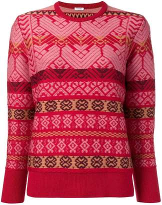 Vilshenko intarsia striped jumper