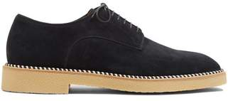 Christian Louboutin Davilo Suede Derby Shoes - Mens - Navy