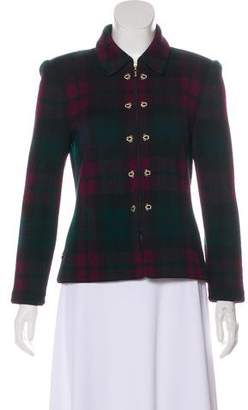 St. John Structured Plaid Jacket