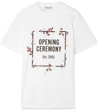 Opening Ceremony Printed Cotton-jersey T-shirt - White