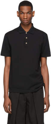 Versace Black Medusa Buttons Polo