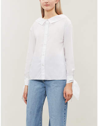 Replay Bow detail cotton shirt