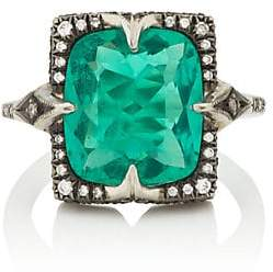 Cathy Waterman Women's Emerald Ring - White