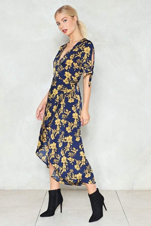 nastygal If You Leaf Me Now Wrap Dress