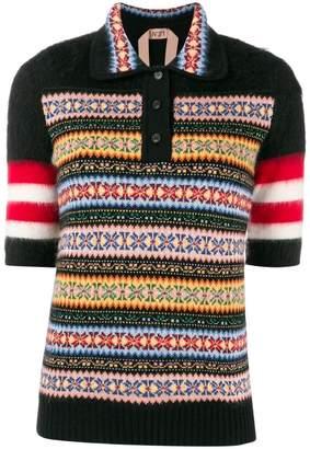 No.21 wool polo shirt