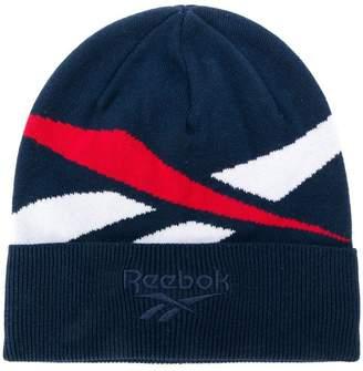 Reebok logo intarsia beanie