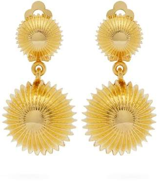Joelle Gagnard Kharrat - Cactus Clip On Gold Plated Earrings - Womens - Gold