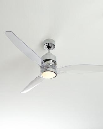 """Horchow 52"""" Sonet Chrome Ceiling Fan"""