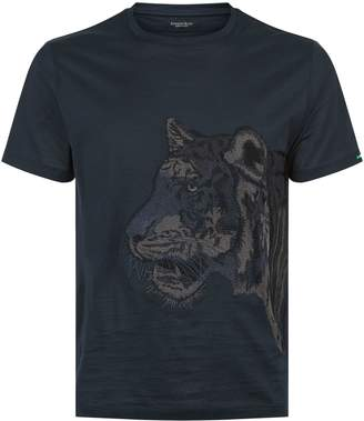 Stefano Ricci Embroidered Tiger T-Shirt