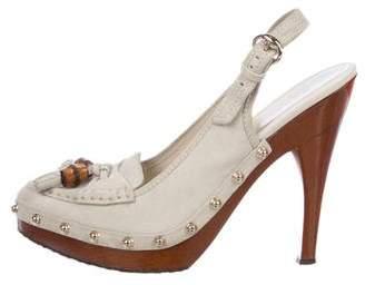 Gucci Slingback Tassel Loafer Pumps