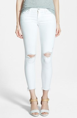 Women's Mother 'Looker' Frayed Ankle Crop Jeans $188 thestylecure.com