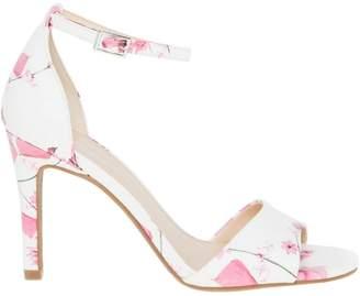 Le Château Women's Floral Leather-Like Ankle Strap Sandal