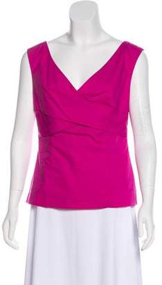 Magaschoni Surplice Neck Sleeveless Top