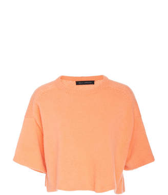 Sally LaPointe Cashmere-Blend Cropped Boxy Tee