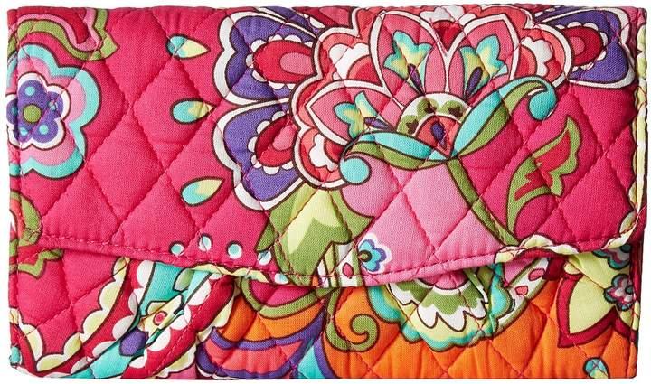 Vera Bradley Strap Wallet Wallet Handbags - PINK SWIRLS - STYLE