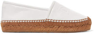 Dolce & Gabbana Logo-embossed Leather Espadrilles - White