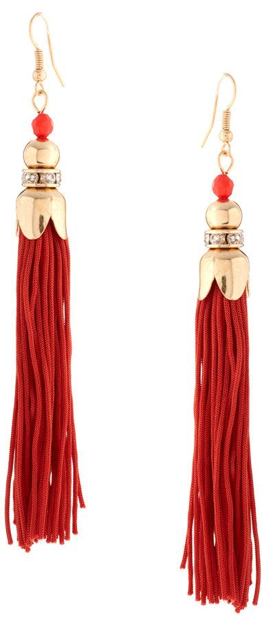 Talullah Tu Crystal Tassel Earrings