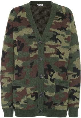 Miu Miu Camouflage wool cardigan