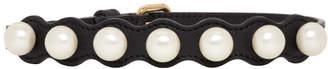 Fendi Black Pearl Choker Necklace