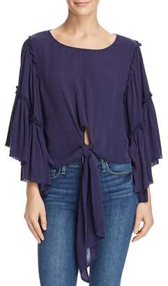 Band of Gypsies Bell-Sleeve Tie-Front Top