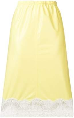 Calvin Klein lace detail skirt