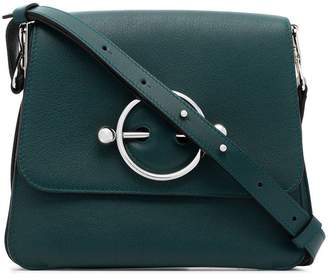 J.W.Anderson green Disc leather shoulder bag
