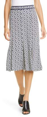 Tory Burch Buddy Logo Print Jersey Skirt