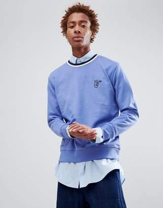 Lee peace logo sweatshirt