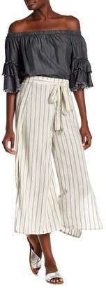 Elan International Striped Wide Leg Pants