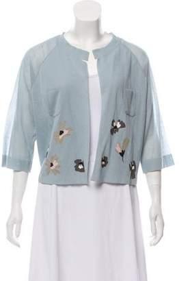 Cividini Embroidered Knit Cardigan w/ Tags