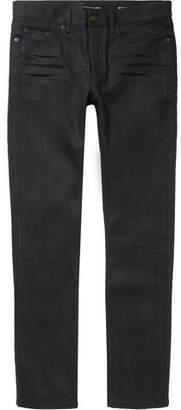 Saint Laurent Skinny-Fit Raw Stretch-Denim Jeans