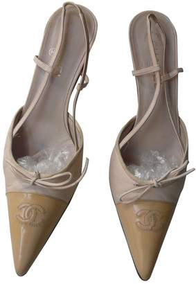 Chanel Slingback Beige Leather Heels