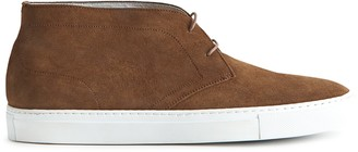 Reiss DYLAN SUEDE CHUKKA BOOTS Brown