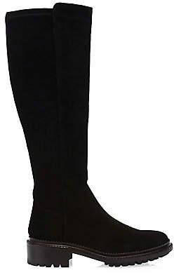 Aquatalia Women's Olivia Suede & Stretch Suede Tall Boots