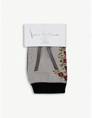 Pierre Mantoux Roy floral-print stretch-cotton socks